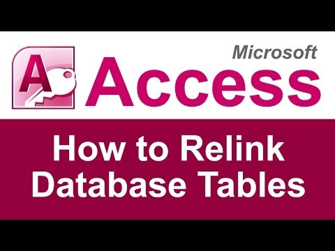 Microsoft Access - How to Relink Database Tables