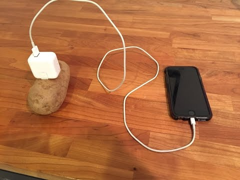 Mobile charging with a potato