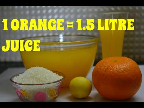 How To Make Orange Juice | Homemade Orange Juice | Orange Juice Recipe At Home