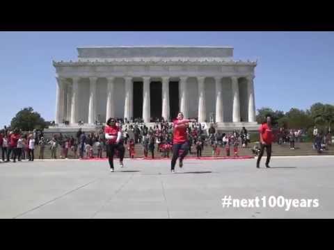 Next 100 Years Turkey Amerika'da Türk Bayraklı Mükemmel dans gösterisi #Next100Years HD