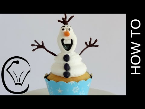 How To Make 3D Frozen Olaf Cupcake by Cupcake Savvy's Kitchen