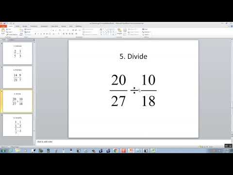 Technology in College Algebra - Fractions - Excel 2010
