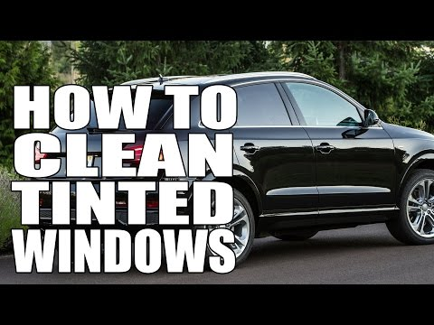 How To Clean Tinted Windows - Masterson's Car Care Glass Cleaner - Auto Detailing