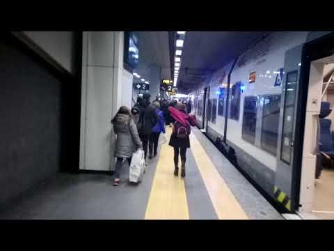 Arriving at Malpensa Airport with Malpensa Express train