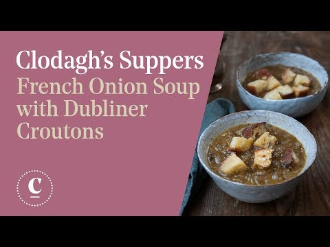 FRENCH ONION SOUP WITH DUBLINER CROUTONS