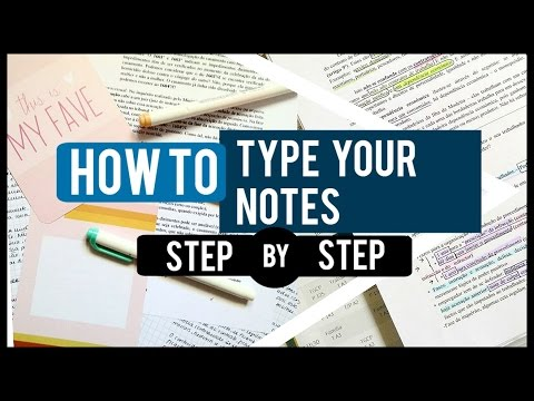 How to Type your Notes for College! // Step by Step