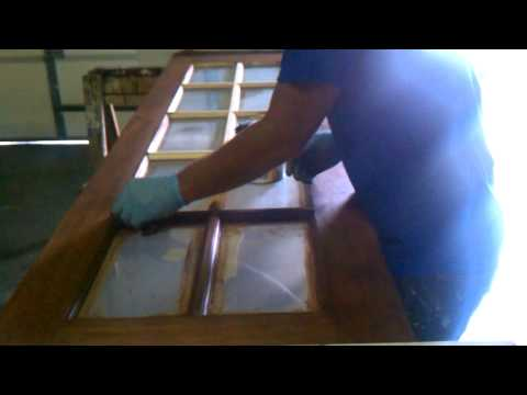 Staining interior french doors by Superior Exteriors & Remodeling in Springfield, Missouri.3gp