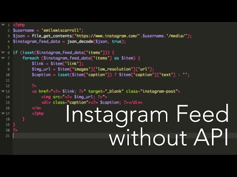 [Deprecated] How to implement an Instagram Feed in PHP without using the Instagram API