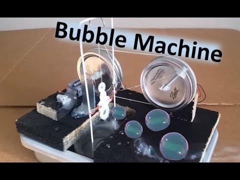 Homemade Soap Bubble Machine