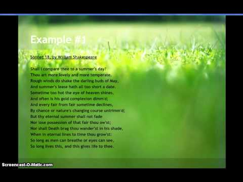 Examples of Sonnet Poems