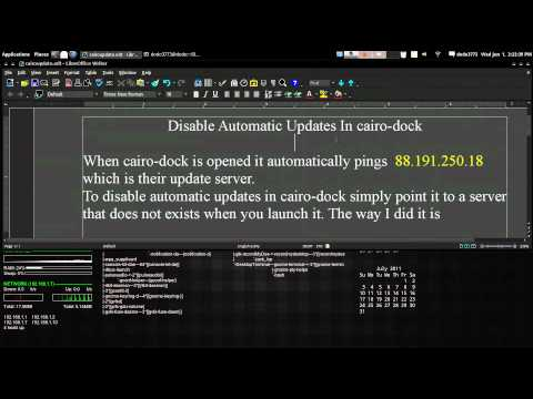 Disable Automatic Updates In Cairo Dock Arch GNU / Linux