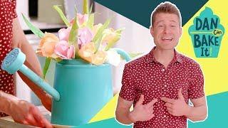 Dan Bakes a Flower Bouquet Cake 💐Challenge #2