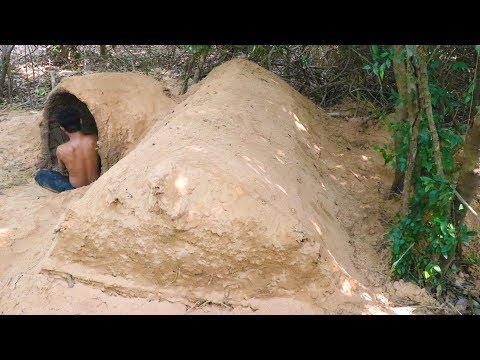 Build House Underground Use Mud and Grass
