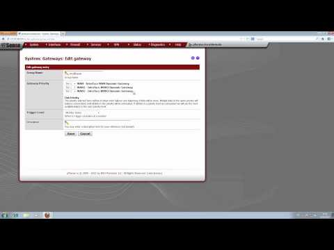 pfSense - multiwan + proxy - Part 2/3: Multiwan / Loadbalancer / Failover einrichten