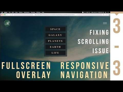Fullscreen Overlay Responsive Navigation - Fixing Scrolling Issue - 3/3