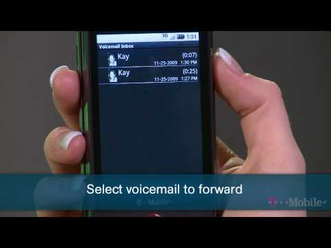 Forwarding Visual Voicemail Messages