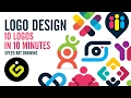 Logo Design, 10 Simple Logos In 10 Minutes