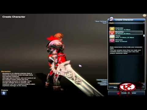 RaiderZ - Character Creation Screen Overview