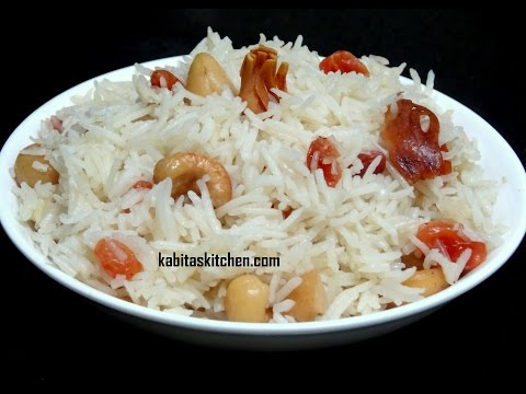 Pressure Cooker Pulao Recipe-Dry fruit Pulao-Easy and Quick Pulao recipe-Indian Pulao recipe
