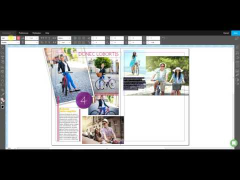 Create a Magazine Page in the Crater™ Editor