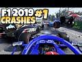 F1 2019 CRASHES 1