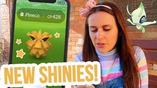 CELEBI RESEARCH & SHINY PINECO, NATU & SUNKERN | Pokemon GO Vlog | ZoeTwoDots