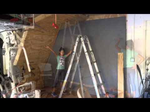 Garage Rock Climbing Wall Project 2013