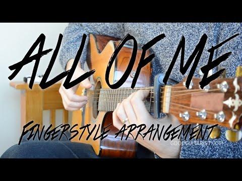 All Of Me - Easy Guitar Tutorial, Fingerpicking | John Legend Guitar Lesson