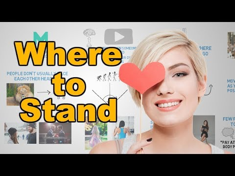 Where people stand when they're attracted to you - Body language and attraction
