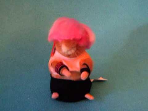 GEMMY HAMSTER Pink Hair SINGING DANCING PLUSH Punk Rock