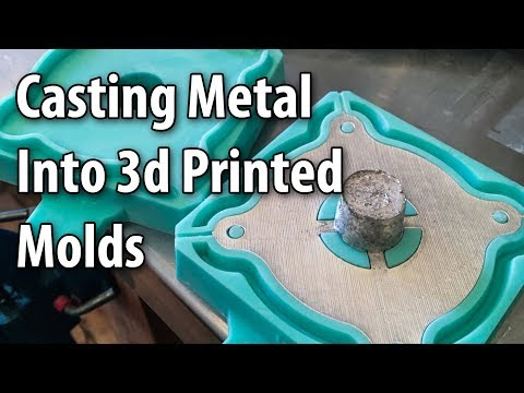 Casting Metal Parts into 3D Printed Molds