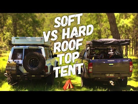 Hard Vs Soft Bundutop vs Darche Roof Top Tent set up