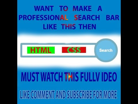 How to make a Professional Search bar ONlY Using HTML & CSS Must Watch