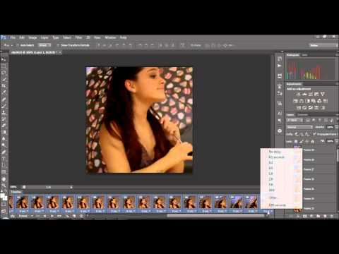 How to make an icon gif for twitter on Photoshop CS6