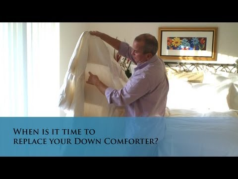 When is it time to replace your Down Comforter (www.verolinens.com)