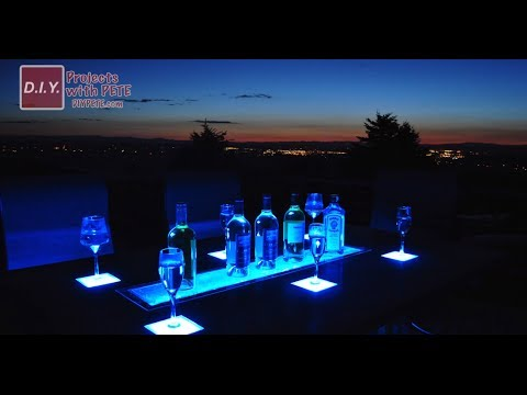 STUNNING LED CONCRETE TABLE WITH BUILT IN COOLER