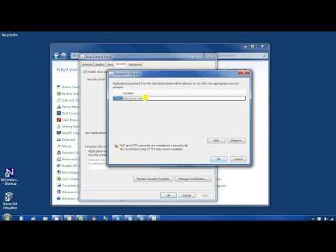 Setting Java VM security to run java aplets