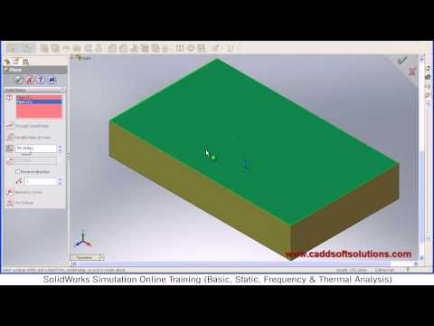 SolidWorks Angled Plane Tutorial
