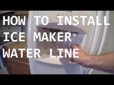 DIY | HOW TO INSTALL WATER LINE TO REFRIGERATOR | THE HANDYMAN