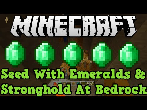 Minecraft Xbox One + PS4 Seed: Stronghold At Bedrock, Ravines & Emeralds