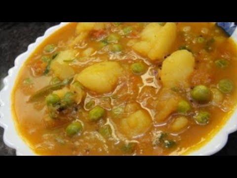 Urulai Kilangu Masala In Tamil | Hotel Style Masala For Poori In Tamil | Potato Peas Masala | Gowri