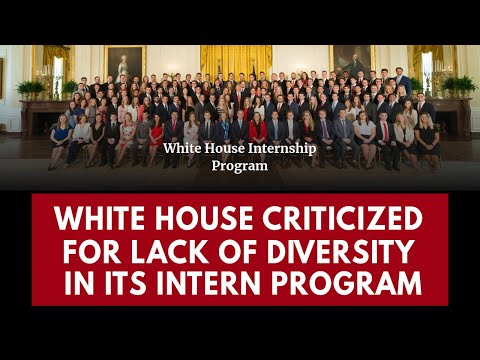 White House faces renewed criticism over lack of diversity in intern program