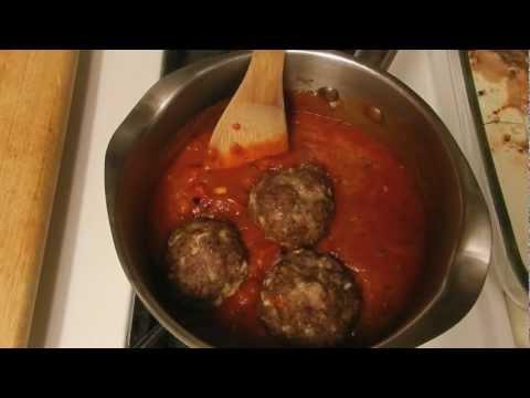 Big Italian Meatball Recipe Served with Marinara Sauce