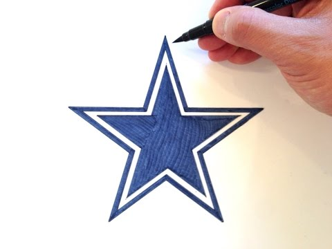 How to Draw the Dallas Cowboys Star Logo
