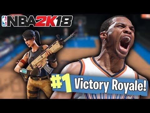 NBA 2K18 CHALLENGE in FORTNITE BATTLE ROYALE!!!