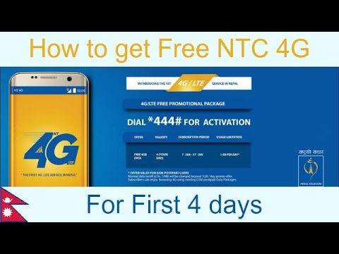 How to get Free NTC 4G Service for starting 4 days - Only for Postpaid Users
