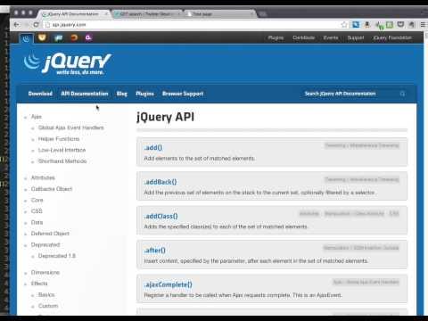 jQuery Ajax Twitter API Tutorial