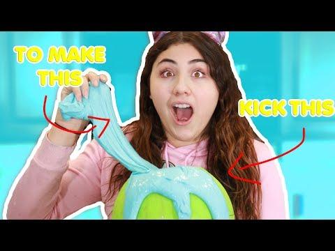 KICK THE BALL TO MAKE SLIME ~ Easiest way to make slime