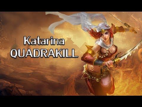 League of Legends   Katarina QuadraKill 4x2