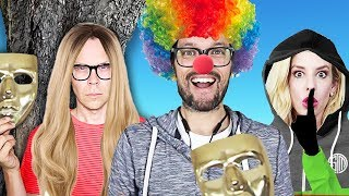 We wore Disguises to Sneak into the Hackers Escape Room! (Game Master Network Clues Found)